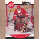 1990 Pro Set Hockey Glen Hanlon Red Wings #72