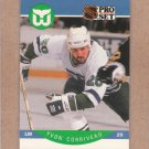 1990 Pro Set Hockey Yvon Corriveau RC Whalers #100