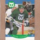 1990 Pro Set Hockey Dean Evason Whalers #103