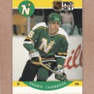 1990 Pro Set Hockey Shawn Chambers North Stars #134