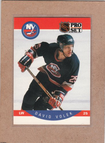 1990 Pro Set Hockey David Volek Islands #193