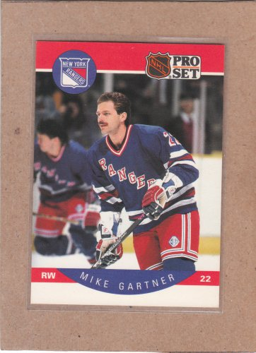 1990 Pro Set Hockey Mike Gartner Rangers #196