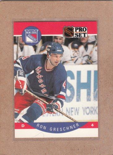 1990 Pro Set Hockey Ron Greschner Rangers #196