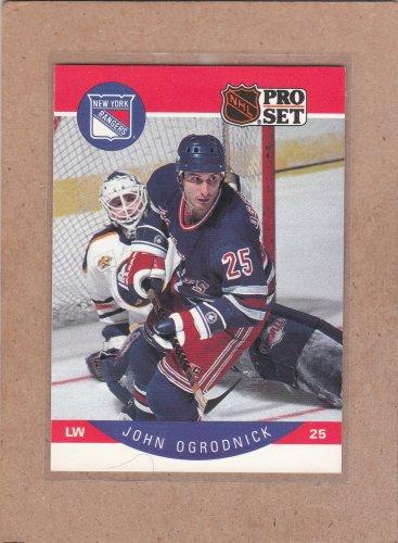 1990 Pro Set Hockey John Ogrodnick Rangers #206
