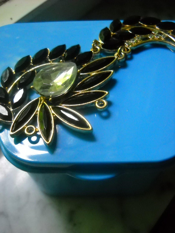 Black Gems Decorative denture elegant case w/Mirror