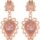 Morganite and Pink Tourmaline 14 kt Rose gold Earrings