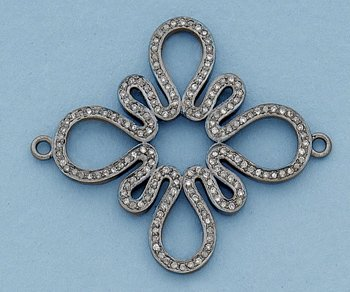 Victorian Inspired Diamond Connector Sterling Silver