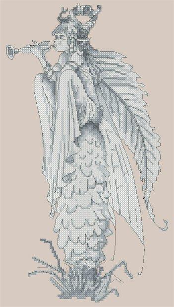 Monge Jean-Baptiste Cross Stitch Chart Fairy on the Mushroom