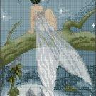 Pascal Moguerou Art Cross Stitch Chart Fairy at moonlight