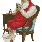 Monge Jean-Baptiste Fantasy Art Cross Stitch Chart Santa