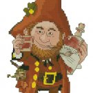 Monge Jean-Baptiste Fantasy Art Cross Stitch Chart Whisky