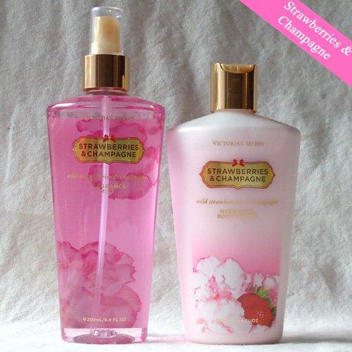 Victoria's Secret Strawberries and Champagne Body lotion & mist set