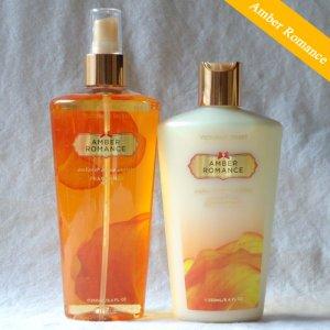 a8b980d717 Victoria s Secret Amber Romance Body lotion   mist set