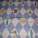 NICK & NORA Duck Diamond Life Fabric Shower Curtain NEW