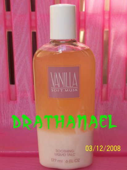 2 New AVON VANILLA SOFT MUSK Fragrance LIQUID TALC 1998