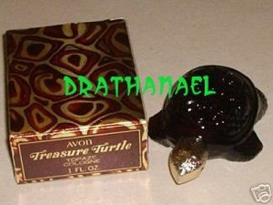 New AVON TOPAZE Cologne Fragrance Treasure Turtle