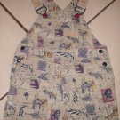 GYMBOREE On A Safari SHORTALL Bibs Small 2T 3T Elephant