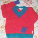 GYMBOREE SWEATER Large L 4 5 4T 5T Red USED