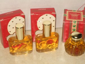 3 New AVON LAHANA Cologne Fragrance Heart Valentine Lot