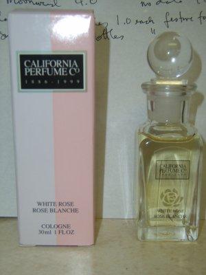 New AVON WHITE ROSE Cologne Fragrance CPC 1999