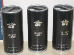 3 New AVON VELVET IMARI Fragrance Perfume TALC 1999