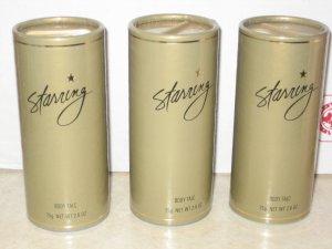 3 New AVON STARRING Fragrance Body POWDER Talc Women 1998