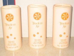 3 New AVON TIMELESS AIR Fragrance Perfume Body TALC 2000