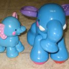 2 USED Fisher Price AMAZING ANIMALS Blue Baby Elephant