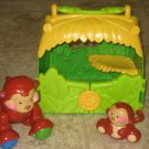 3 USED Fisher Price AMAZING ANIMALS Monkey Tote Baby