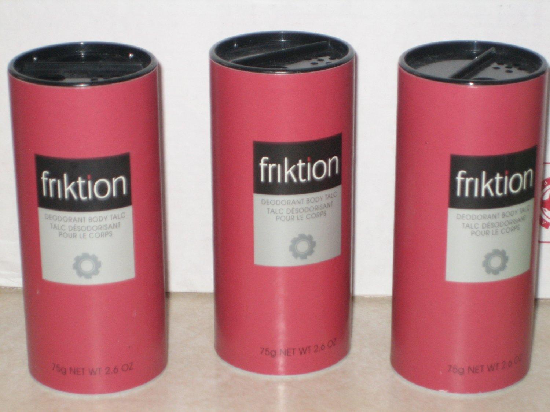 3 New AVON FRIKTION Fragrance Deodorant TALC Men 1999
