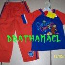 NEW CURIOUS GEORGE Monkey Shirt Tops Pants 5T 5 Boy Set