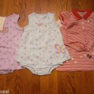 3 New Carter's Just One Year Romper Sundress 18M 18 Lot Snail Dress Polka Dot