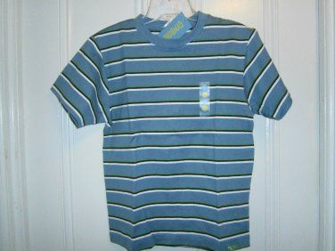 New GYMBOREE Favorite Heroes SHIRT TOPS Sz 6 Blue Stripes Short Sleeves