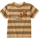 New GYMBOREE Safari Trek SHIRT TOPS Size 7 Stripes Desert Trek 36 Boy Brown