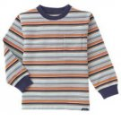 New GYMBOREE Construction Zone Sz 4 SHIRT Tops Stripes Blue Orange Boy