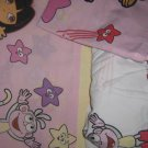 Dora the Explorer Boots TWIN SHEET SET Pillowcase Star