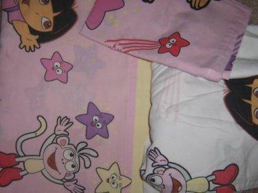 Dora the Explorer Boots TWIN SHEET SET Pillowcase Star