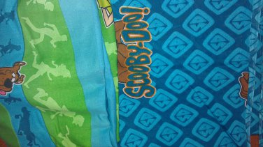 USED SCOOBY DOO TWIN FLAT FITTED SHEET Turquoise Dog Sheets