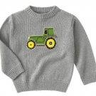 New GYMBOREE Tractor Company Knit SWEATER Sz 8 gray
