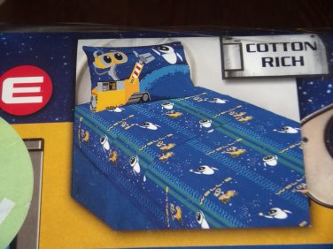 New Disney Wall-E Wall E TWIN SHEET Set Sheets Robot Blue