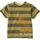 New GYMBOREE Safari Trek SHIRT TOPS Giraffe Sz 7 Stripes Olive Boy Animal Zoo