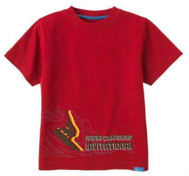 f1c3e2b86 New GYMBOREE Surf Camp Surfboard Red Size 8 SHIRT Champ Top Red Boy
