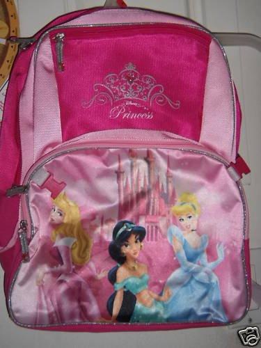 New DISNEY PRINCESS Princesses Backpack Bag Canvas Pink