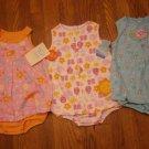 3 New Carter's Child of Mine Romper Sunsuit Sundress 24M 24 M Lot Dress Butterfly Heart