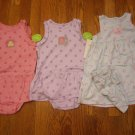 3 New Carter's Child of Mine Romper Sunsuit Sundress 24M 24 M Lot Dress Cherry Dot Snail