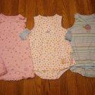 3 New Carter's Child of Mine Romper Sundress Sunsuit 24M 24 M Lot Dress Butterfly Flower
