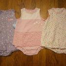 3 New Carter's Child of Mine Romper Sundress 24M 24 M Lot Dress Flower Pink Dot Purple
