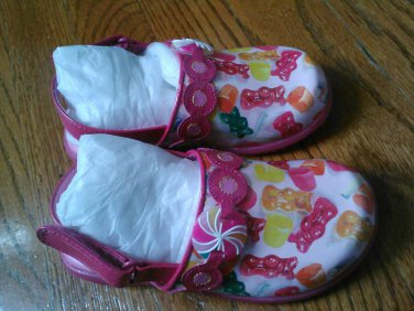 New STRIDE RITE SHOES CLOGS Lolli Hot Pink Girls Size 7M 8M 7 M 8 M