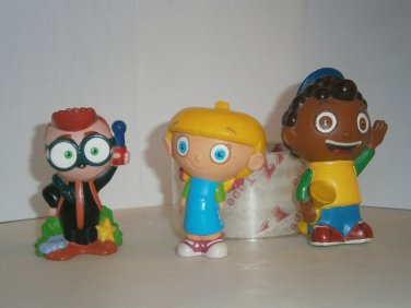 3 USED LITTLE EINSTEINS Figures Figurines Quincy Anne Leo Toy