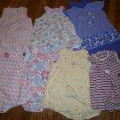7 Used Carter's Okie Dokie Romper Sundress Sunsuit Girl 24M 24 M Cherry Flower Dress Lot